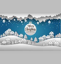 merry christmas and happy new year 2019 and snow b vector image