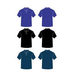 mockup a plain short-neck shirt vector image