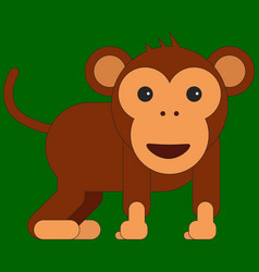 monkey in cartoon flat style vector image