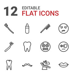 Mouth icons vector