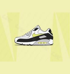 Nike air max 90 lime vector