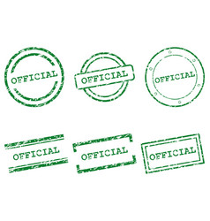 official stamps vector image