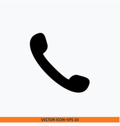 phone icon flat line icon phone symbol vector image