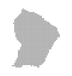 pixel map of french guiana dotted map of french vector image