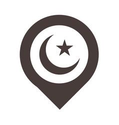 Pointer location ramadan arabic islamic vector