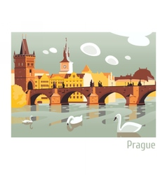 prague charles bridge vector image