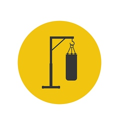 Punching bag icon vector image