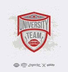 Rugemblem university team and design elements vector