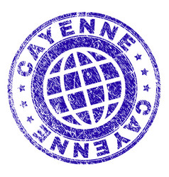 Scratched textured cayenne stamp seal vector