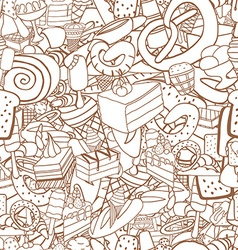 Seamless pattern of ice-cream vector image