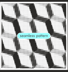 seamless patterns with halftone dots 14 vector image