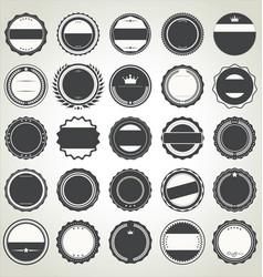 set empty retro vintage badges vector image