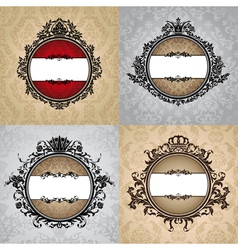Set of abstract royal vintage frames vector