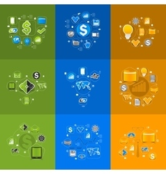Set of sticker design High-tech business concept vector image