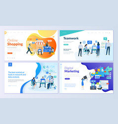 set of web page design templates vector image