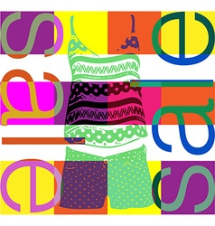 shopping sale banner vector image