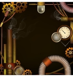 Steam punk background vector