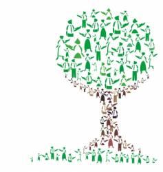 teaching tree vector image