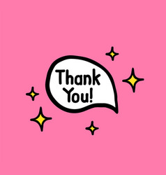 thank you doodle hand written words vector image