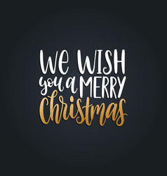 we wish you a merry christmas lettering vector image