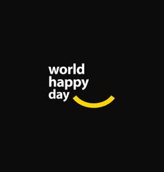 World happy day template design vector