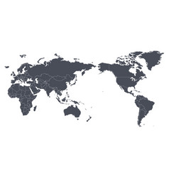 world map outline contour silhouette vector image