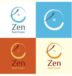 zen real estate logo vector image