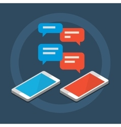 Concept of a mobile chat vector image