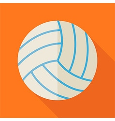 Flat Sports Ball Volleyball with Long Shadow vector image vector image