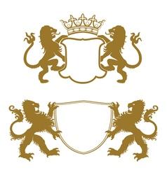 Heraldic Crests Silhouettes vector image