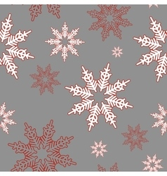 Snowflakes Seamless christmas pattern vector image vector image
