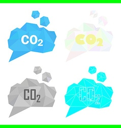 carbon dioxide cloud set vector image vector image