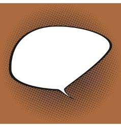 Speech Bubble on Orange Background vector image vector image