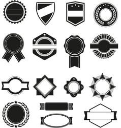 Big set of black silhouette frames or vector image