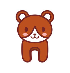 cartoon brown bear animal image vector image