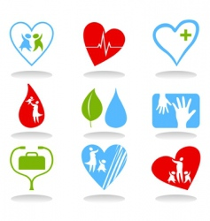 medical icons4 vector image vector image