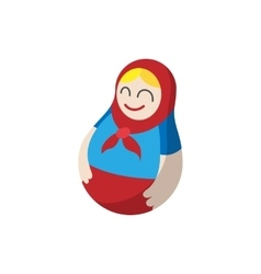 Russian matryoshka icon cartoon style vector image
