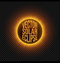 Solar eclipse graphic element vector