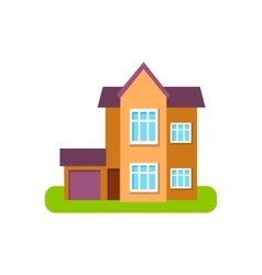 Modern Style Suburban House Exterior Design With vector image vector image
