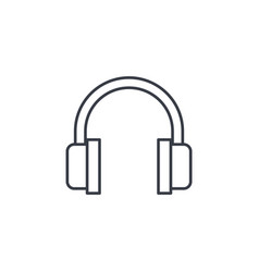 music headphones thin line icon linear vector image