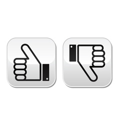 Thumb up and down buttons set - social media vector image