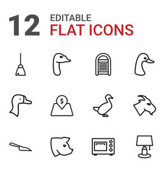 12 domestic icons vector