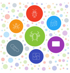 7 painting icons vector image