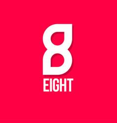 8 eight monogram two drops vector image