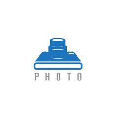 Abstract icon design template photo camera vector