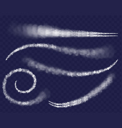 airplane condensation trail vector image