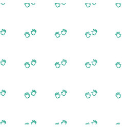 Baby hands icon pattern seamless white background vector