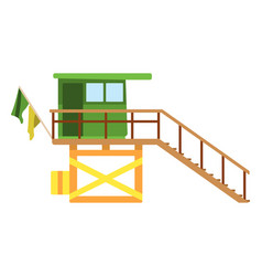 Baywatch house flat icon cartoon vector