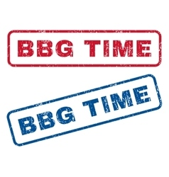 Bbg Time Rubber Stamps vector