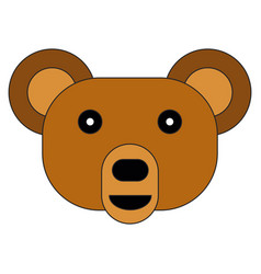 bear face on a white background vector image